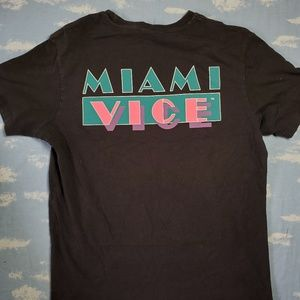 H&M Miami Vice Shirt Black Men's Medium
